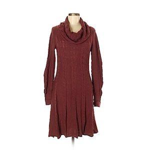 Athleta maroon sweater dress M